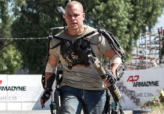 Matt Damon's exoskeleton in Elysium allowed him to lift really heavy objects, fight, and move really fast.  Are we heading that way?