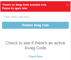 swag code screen