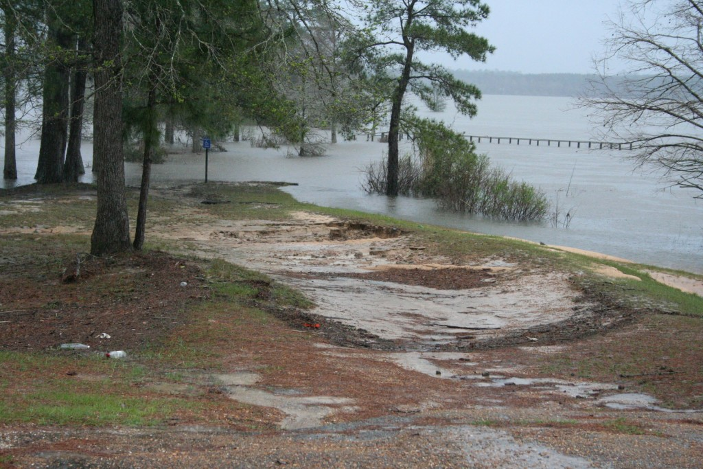 Soil erosion is going to be a major issue to deal with when the flood waters go down in Burr Ferry and Evans. In this photo, however, the soil erosion caused by all the rain alone will have an effect on areas that are not currently being flooded.