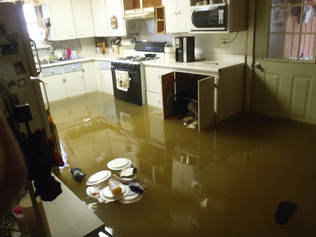 Your kitchen is taking on a ton of water as well.
