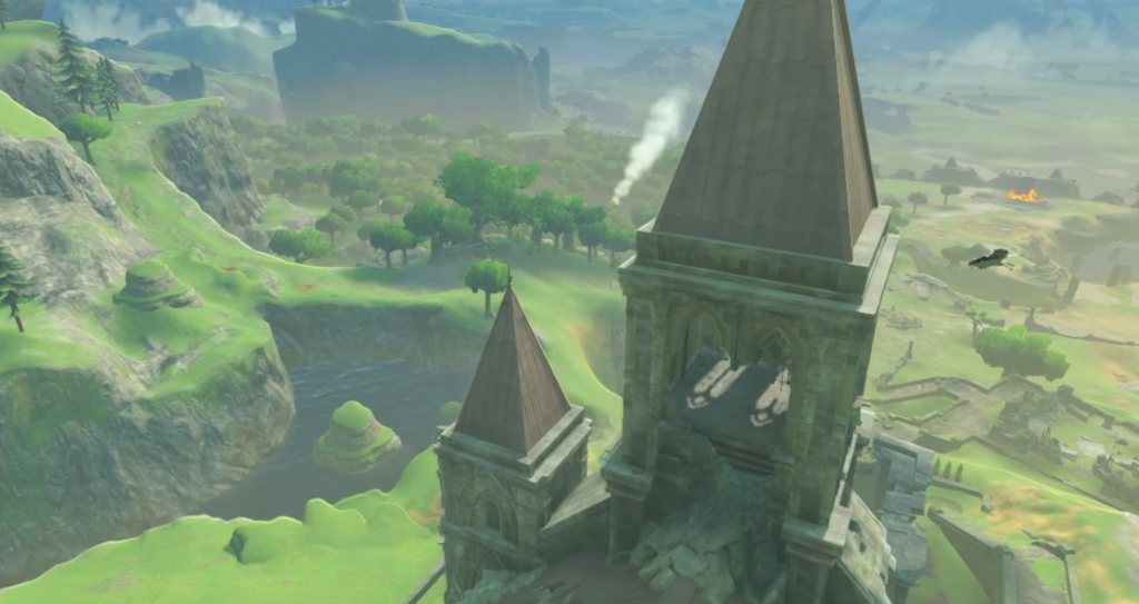 This drone view of Hyrule castle